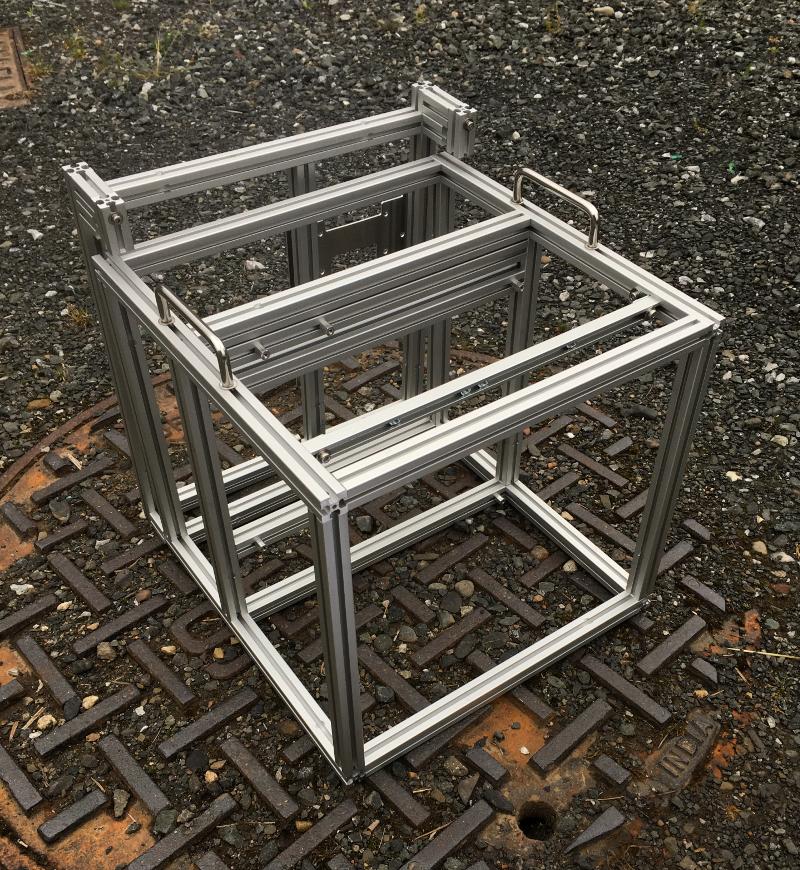 Framer for liquid cooled rig.