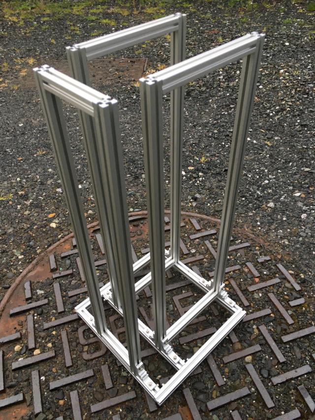 Custom t-slot radiator stand