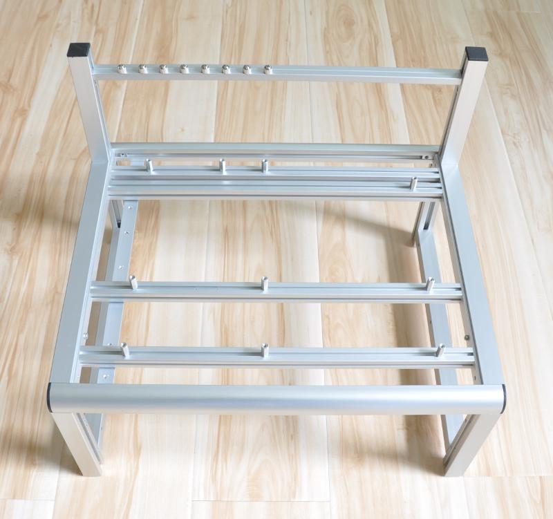 modular open frame test bench