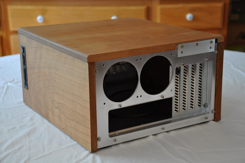 Wood PC case