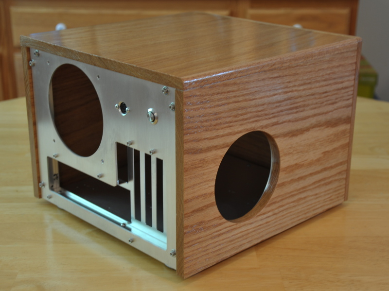 Custom oak PC case